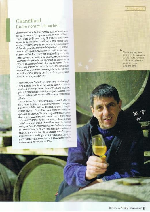 Chamillard, l'autre nom du Chouchen. Extrait de l'article Le chouchen, ce nectar de Breatgne dans Bretons en cuisine n°5